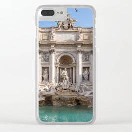 Trevi Fountain in the early morning - Rome, Italy Clear iPhone Case