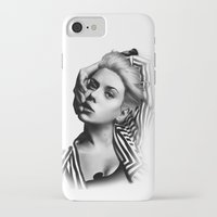 lip iPhone & iPod Cases featuring Pulling Lip by BeckiBoos