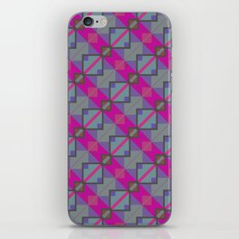 Grey Purple Aztec Pattern iPhone Skin