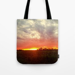 Chasing fire       (Curtain panel #2) Tote Bag