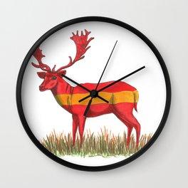 SPANISH Fallow Deer Wall Clock