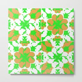 Graphic Floral Pattern Metal Print