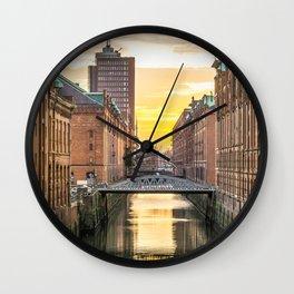 The Speicherstadt (Hamburg, Germany) Wall Clock