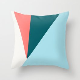 Blue Red Triangles Throw Pillow