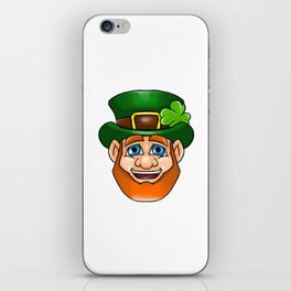 Leprechaun Smiling Face Irish St Patty_s Day iPhone Skin