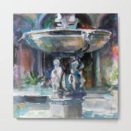 Spanish Fountain Metal Print