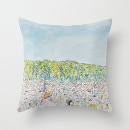 Winnipeg Folk Festival Throw Pillow