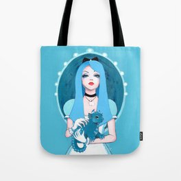 Alice Wore Blue Tote Bag