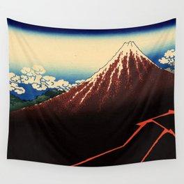 "Hokusai (1760–1849) ""Rainstorm Beneath the Summit"" Wall Tapestry"