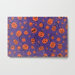 Halloween Magic- Purple Metal Print