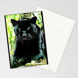 Big Cat Models: Green Eyed Black Panther Stationery Cards