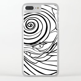 Moon Shell 1 Clear iPhone Case
