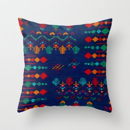 -A17- Anthropologie Moroccan Blue Artwork. Throw Pillow