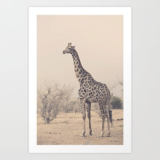 G is for Giraffe Art Print