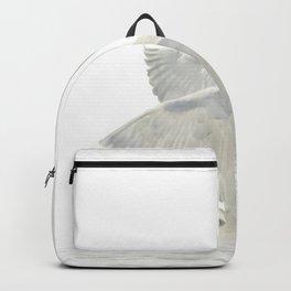 WHITE ON WHITE-BEAUTIFUL SWAN Backpack