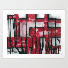 Bleeding Red Art Print