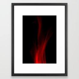 Leaping flames. Framed Art Print