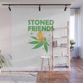 Pizza Cannabis | Smoke Weed 420 Gifts Wall Mural