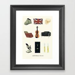 221B Baker Street Framed Art Print