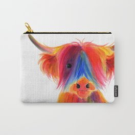 Scottish Highland Cow ' PANCAKE ' by Shirley MacArthur Carry-All Pouch