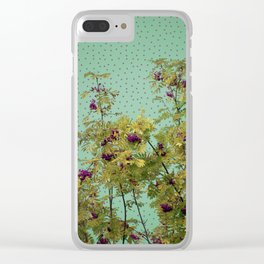 Rowan tree and purple polka dots Clear iPhone Case