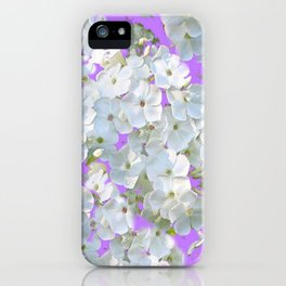 DELICATE LILAC & WHITE LACE FLORAL GARDEN PATTERNS iPhone Case
