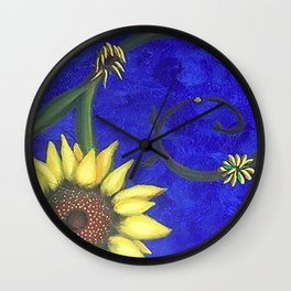 Lifecycle of a Sunflower Wall Clock