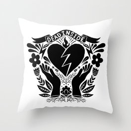 glory be to the dead inside Throw Pillow