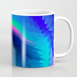 The emblem of an eagle bird head in motion blur. Medal with the image of an eagle on a blue backgrou Coffee Mug