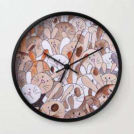 Lots of Bunnies Wall Clock