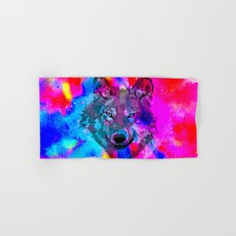 Colourful Wolf Hand & Bath Towel