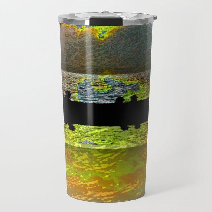 Abstract-art sunset Travel Mug