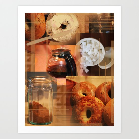 Bagels And Coffee  Art Print