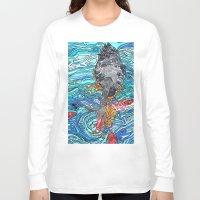 black swan Long Sleeve T-shirts featuring Black Swan by Juliana Kroscen
