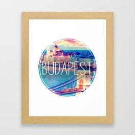 Budapest, Hungary, Chain Bridge Framed Art Print
