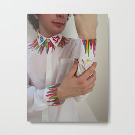 Spectrum Shirt Metal Print