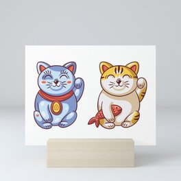 Lucky Cats Mini Art Print