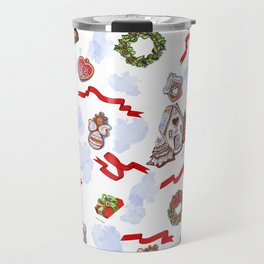 hand drawn pattern of winter decoration Travel Mug