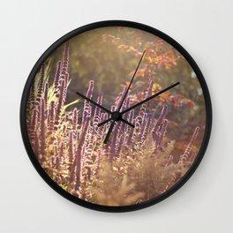 Fall Garden Wall Clock