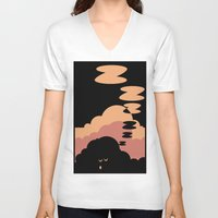 cloud V-neck T-shirts featuring Cloud by Herber Crispin