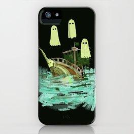 ghost pirate boat iPhone Case