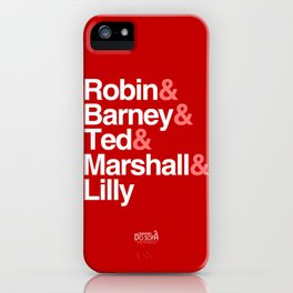 How I Met Your Mother Typography iPhone Case