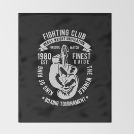 fighting club heavy weight unification Throw Blanket