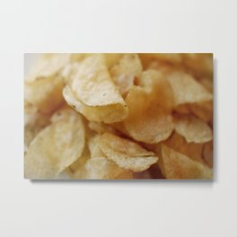 Potato Chips Metal Print