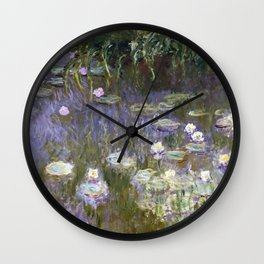Water Lilies 1922 by Claude Monet Wall Clock