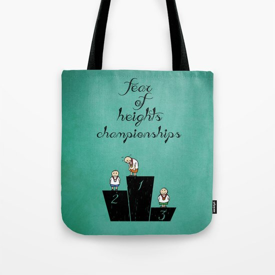 fear of height Tote Bag