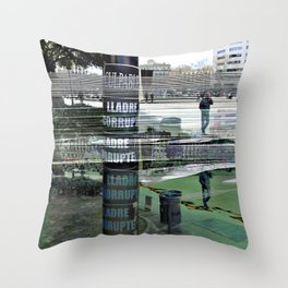 "Sunday 10 March 2013: ""...all the colo(u)rs bleed..."" Throw Pillow"