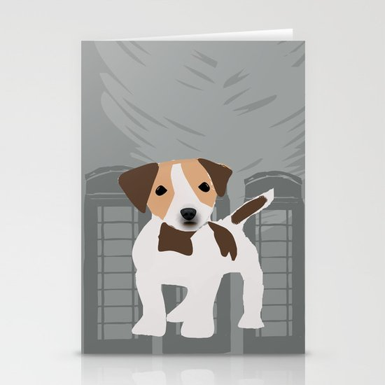 Jack Russel Dog in brown and white color Stationery Cards
