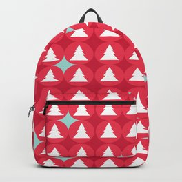 Christmas pattern red Backpack