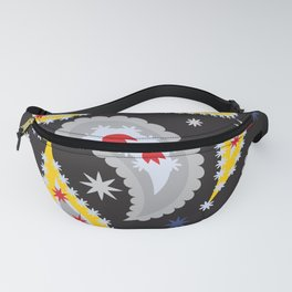 pattern with leaves and flowers paisley style Fanny Pack